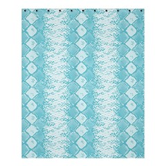 Snake Skin Blue Chevron Wave Shower Curtain 60  X 72  (medium)  by AnjaniArt