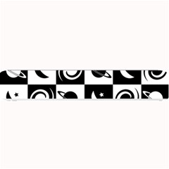 Space Month Saturnus Planet Star Hole Black White Small Bar Mats