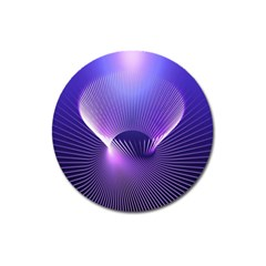 Space Galaxy Purple Blue Line Magnet 3  (round)