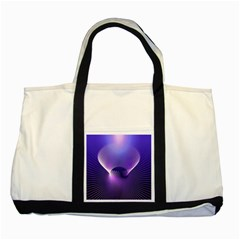 Space Galaxy Purple Blue Line Two Tone Tote Bag