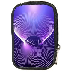 Space Galaxy Purple Blue Line Compact Camera Cases