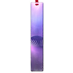Space Galaxy Purple Blue Line Large Book Marks