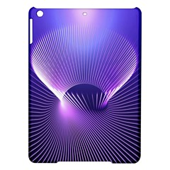 Space Galaxy Purple Blue Line Ipad Air Hardshell Cases