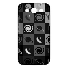 Space Month Saturnus Planet Star Hole Black White Grey Samsung Galaxy Mega 5 8 I9152 Hardshell Case  by AnjaniArt