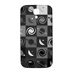 Space Month Saturnus Planet Star Hole Black White Grey Samsung Galaxy S4 I9500/i9505  Hardshell Back Case by AnjaniArt