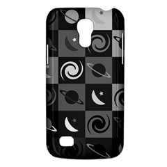 Space Month Saturnus Planet Star Hole Black White Grey Galaxy S4 Mini by AnjaniArt
