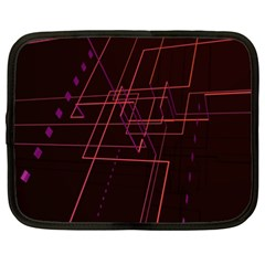 Space Path Line Netbook Case (xxl)  by AnjaniArt