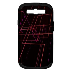 Space Path Line Samsung Galaxy S Iii Hardshell Case (pc+silicone)