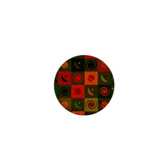 Space Month Saturnus Planet Star Hole Black White Multicolour Orange 1  Mini Magnets by AnjaniArt
