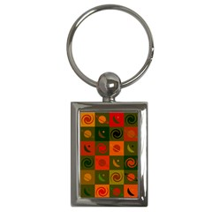 Space Month Saturnus Planet Star Hole Black White Multicolour Orange Key Chains (rectangle)  by AnjaniArt