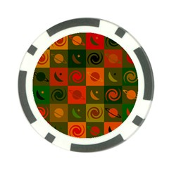 Space Month Saturnus Planet Star Hole Black White Multicolour Orange Poker Chip Card Guard by AnjaniArt