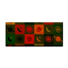 Space Month Saturnus Planet Star Hole Black White Multicolour Orange Cosmetic Storage Cases by AnjaniArt