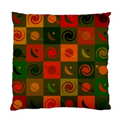 Space Month Saturnus Planet Star Hole Black White Multicolour Orange Standard Cushion Case (one Side) by AnjaniArt