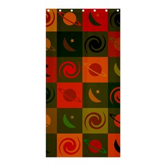 Space Month Saturnus Planet Star Hole Black White Multicolour Orange Shower Curtain 36  X 72  (stall)  by AnjaniArt