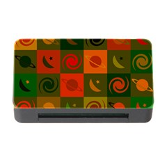Space Month Saturnus Planet Star Hole Black White Multicolour Orange Memory Card Reader With Cf by AnjaniArt