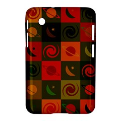 Space Month Saturnus Planet Star Hole Black White Multicolour Orange Samsung Galaxy Tab 2 (7 ) P3100 Hardshell Case  by AnjaniArt