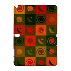 Space Month Saturnus Planet Star Hole Black White Multicolour Orange Galaxy Note 1 by AnjaniArt