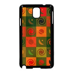 Space Month Saturnus Planet Star Hole Black White Multicolour Orange Samsung Galaxy Note 3 Neo Hardshell Case (black) by AnjaniArt