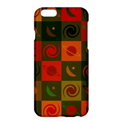 Space Month Saturnus Planet Star Hole Black White Multicolour Orange Apple Iphone 6 Plus/6s Plus Hardshell Case by AnjaniArt