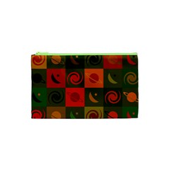 Space Month Saturnus Planet Star Hole Black White Multicolour Orange Cosmetic Bag (xs) by AnjaniArt