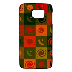 Space Month Saturnus Planet Star Hole Black White Multicolour Orange Galaxy S6 by AnjaniArt