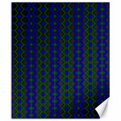 Split Diamond Blue Green Woven Fabric Canvas 8  X 10  by AnjaniArt