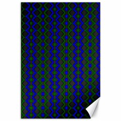 Split Diamond Blue Green Woven Fabric Canvas 12  X 18   by AnjaniArt