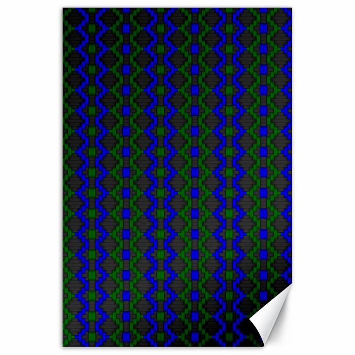 Split Diamond Blue Green Woven Fabric Canvas 20  x 30