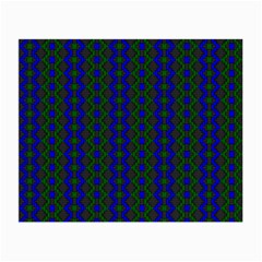 Split Diamond Blue Green Woven Fabric Small Glasses Cloth (2 Side) by AnjaniArt