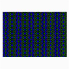 Split Diamond Blue Green Woven Fabric Large Glasses Cloth by AnjaniArt