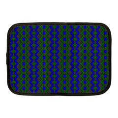 Split Diamond Blue Green Woven Fabric Netbook Case (medium)  by AnjaniArt