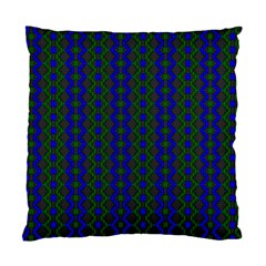 Split Diamond Blue Green Woven Fabric Standard Cushion Case (two Sides) by AnjaniArt