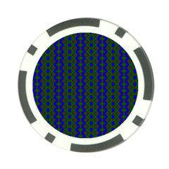 Split Diamond Blue Green Woven Fabric Poker Chip Card Guard (10 Pack) by AnjaniArt