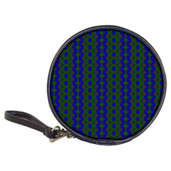 Split Diamond Blue Green Woven Fabric Classic 20 Cd Wallets by AnjaniArt