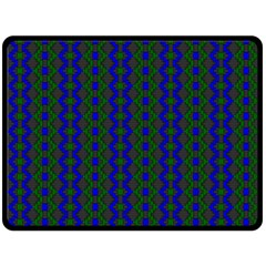 Split Diamond Blue Green Woven Fabric Fleece Blanket (large)  by AnjaniArt