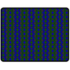 Split Diamond Blue Green Woven Fabric Fleece Blanket (medium)