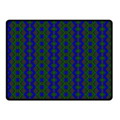 Split Diamond Blue Green Woven Fabric Fleece Blanket (small) by AnjaniArt