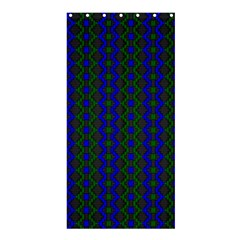 Split Diamond Blue Green Woven Fabric Shower Curtain 36  X 72  (stall)  by AnjaniArt