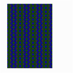 Split Diamond Blue Green Woven Fabric Large Garden Flag (two Sides) by AnjaniArt