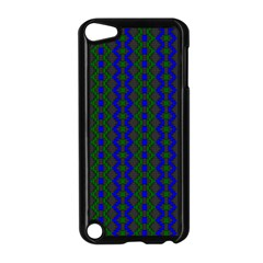 Split Diamond Blue Green Woven Fabric Apple Ipod Touch 5 Case (black) by AnjaniArt