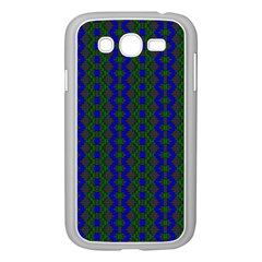 Split Diamond Blue Green Woven Fabric Samsung Galaxy Grand Duos I9082 Case (white) by AnjaniArt