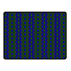 Split Diamond Blue Green Woven Fabric Double Sided Fleece Blanket (small)  by AnjaniArt