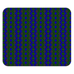 Split Diamond Blue Green Woven Fabric Double Sided Flano Blanket (small)  by AnjaniArt