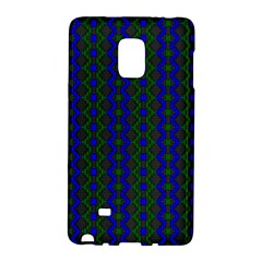 Split Diamond Blue Green Woven Fabric Galaxy Note Edge by AnjaniArt