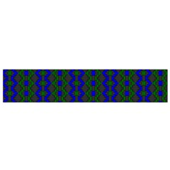 Split Diamond Blue Green Woven Fabric Flano Scarf (small) by AnjaniArt