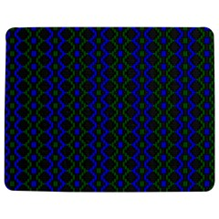Split Diamond Blue Green Woven Fabric Jigsaw Puzzle Photo Stand (rectangular) by AnjaniArt