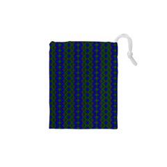 Split Diamond Blue Green Woven Fabric Drawstring Pouches (xs)  by AnjaniArt