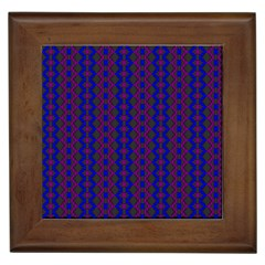 Split Diamond Blue Purple Woven Fabric Framed Tiles by AnjaniArt