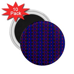 Split Diamond Blue Purple Woven Fabric 2 25  Magnets (10 Pack)  by AnjaniArt
