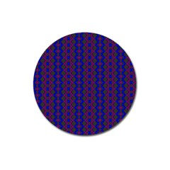 Split Diamond Blue Purple Woven Fabric Magnet 3  (round) by AnjaniArt